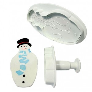 Snowman Plunger Cutter Set of 2