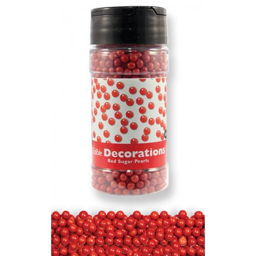 Sugar Pearls 4mm red PME 113.4g