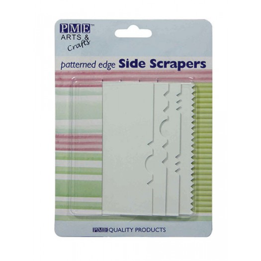 Icing Side Scrapers Patterned Edge Set of 4