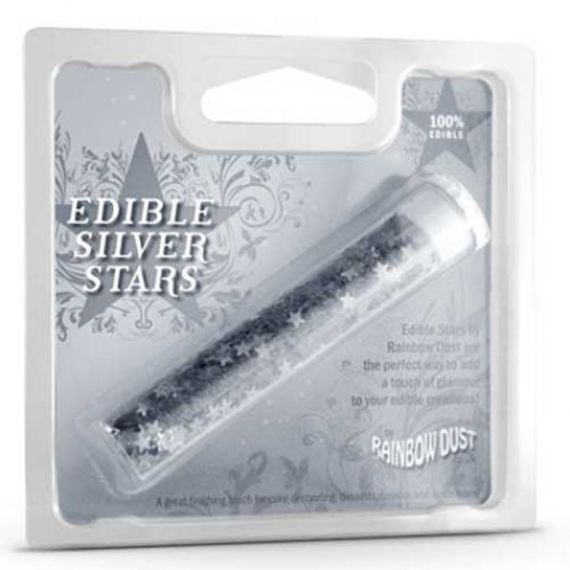 Edible Stars Dark Silver