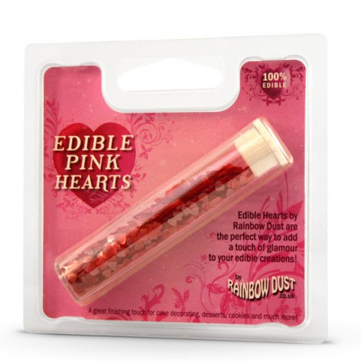 Edible Hearts Pink