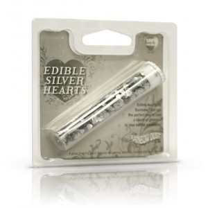 Edible Hearts Silver