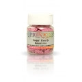 Rainbow Dust Sprinkles Sugar Hearts - Natural Cerise