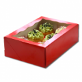 Cupcake Box Red (holds 6) with insert