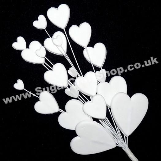 Heart Spray - White