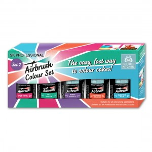Squires Kitchen Airbrush Colour x 5 set 2