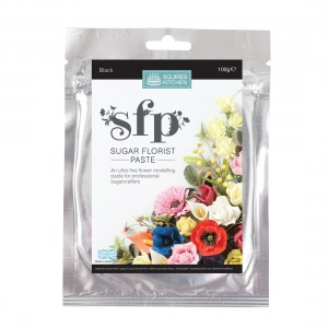 Squires Kitchen Sugar Florist Paste 100g - Black