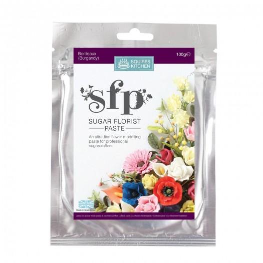Squires Kitchen Sugar Florist Paste 100g - Bordeaux (Burgundy)