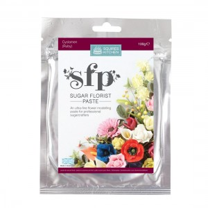 Squires Kitchen Sugar Florist Paste 100g - Cyclamen (Ruby)