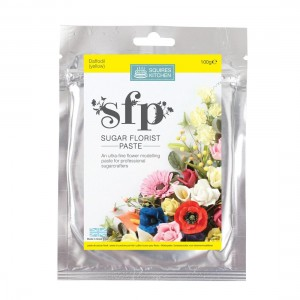 Squires Kitchen Sugar Florist Paste 100g - Daffodil (Yellow)