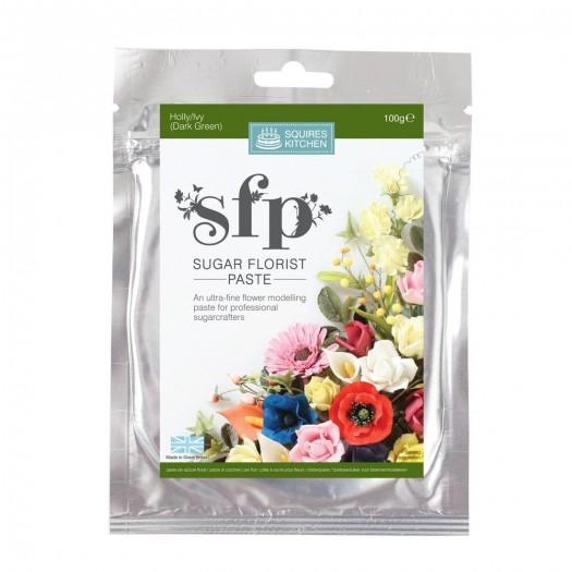 Squires Kitchen Sugar Florist Paste 100g - Holly/Ivy (Dark Green)