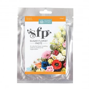 Squires Kitchen Sugar Florist Paste 100g - Marigold (Tangerine)