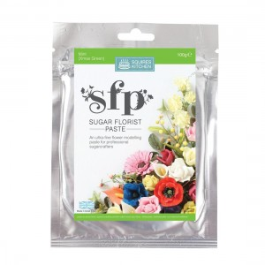 Squires Kitchen Sugar Florist Paste 100g - Mint (Xmas Green)