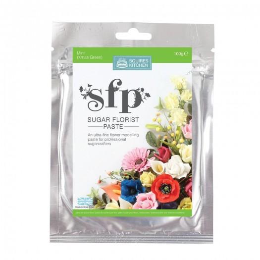 Squires Kitchen Sugar Florist Paste 100g - Mint (Xmas Green)