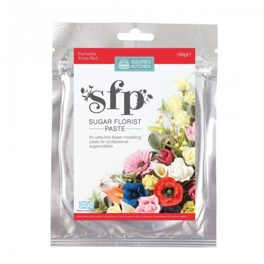 Squires Kitchen Sugar Florist Paste 100g - Poinsettia (Xmas Red)