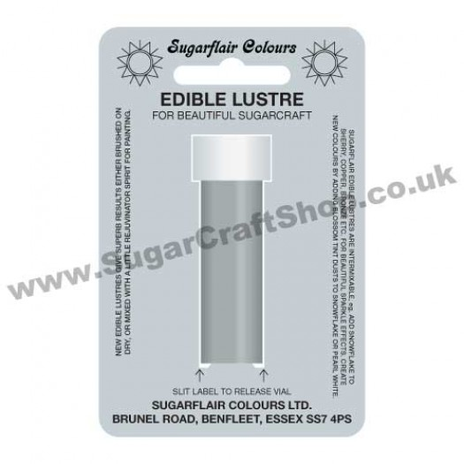 Sugarflair Edible Lustre - Satin Silver