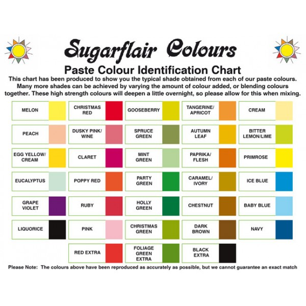 Sugarflair Spectral Paste 25g - Cream (Tartrazine Free)