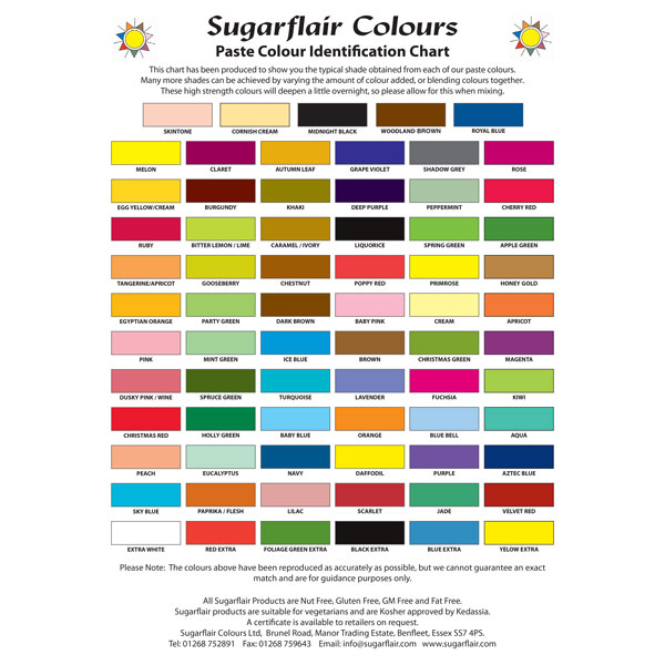 Sugarflair Spectral Paste 25g - Egg Yellow