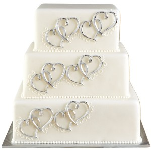 Heart Cake Decor Set of 6 - Wilton 120-1024
