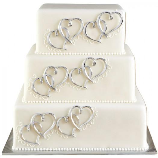 Heart Cake Decor Set of 6 - Wilton 120-1024